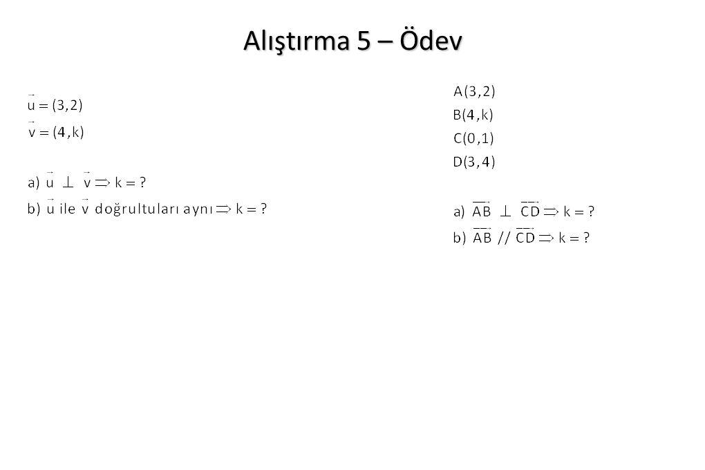 Alıştırma 5 – Ödev