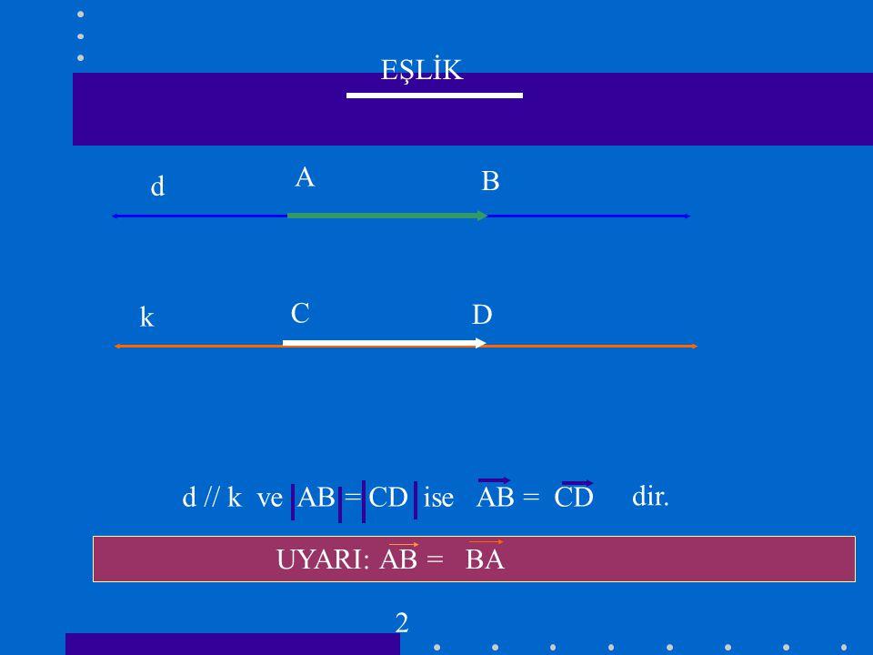 TOPLAMA A B C AB + BC = AC 3
