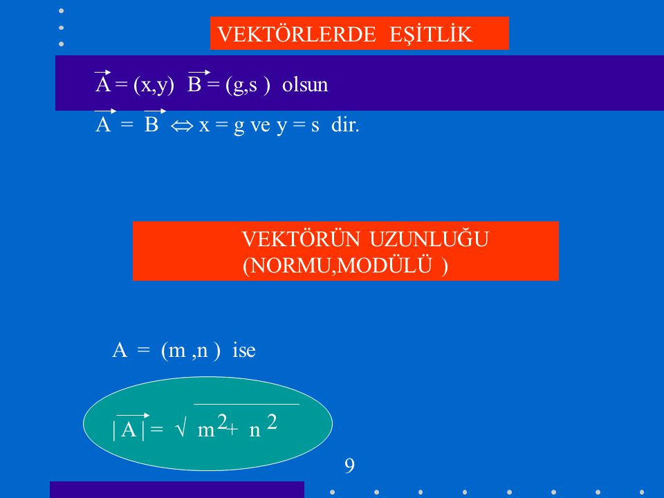 BİR VEKTÖRÜN BİR SKALER İLE ÇARPIMI A = ( m, n ) ve r  R ise r.