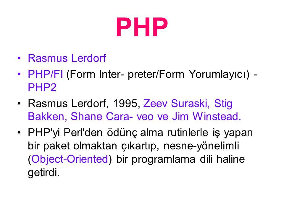 PHP Nedir.Bir Script dilidir.