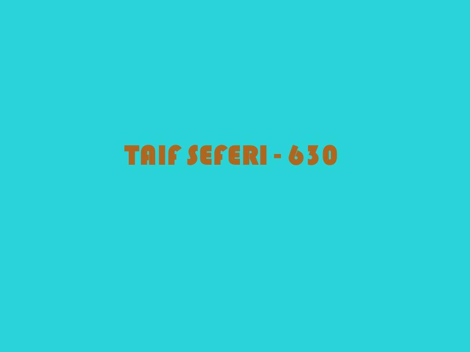 TAIF SEFERI - 630
