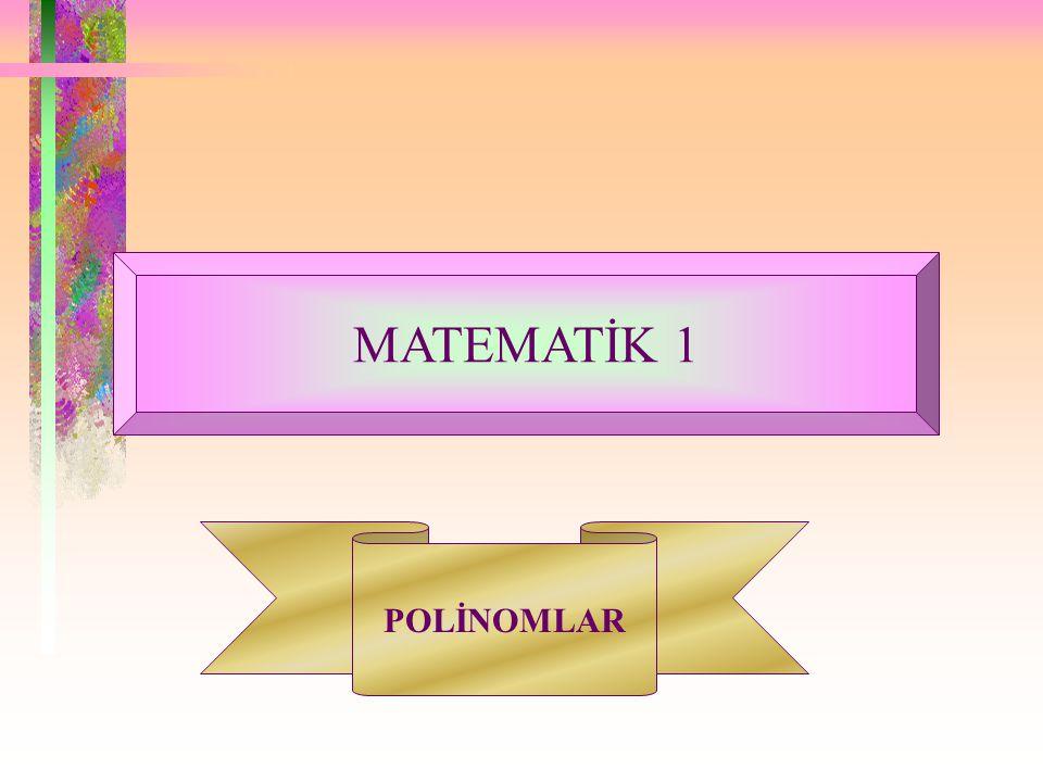 m.dereceden bir polinomla, n.dereceden bir polinomun çarpımının, (m+n).