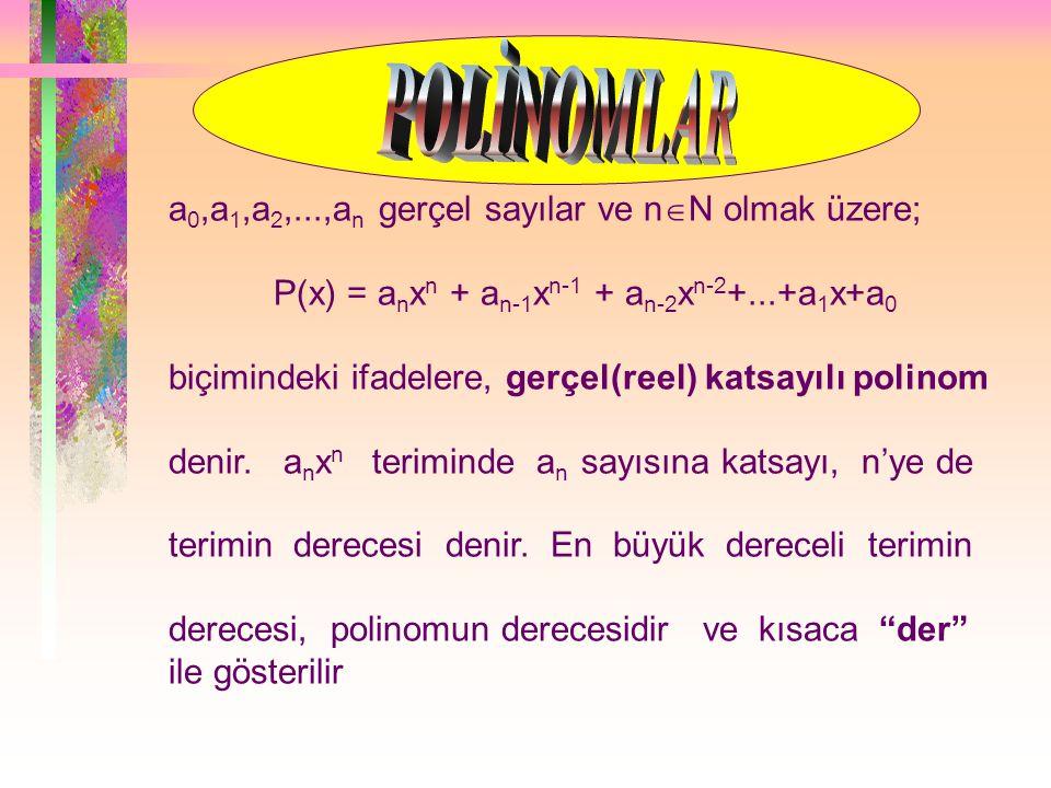 MATEMATİK 1 POLİNOMLAR