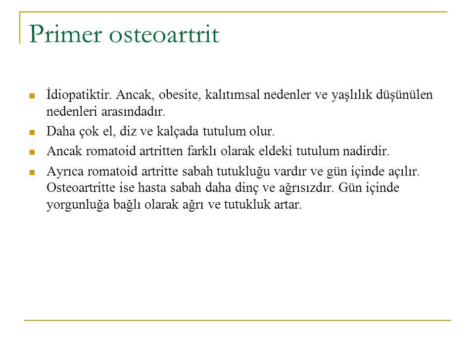 OSTEOARTRİT PRİMER SEKONDER