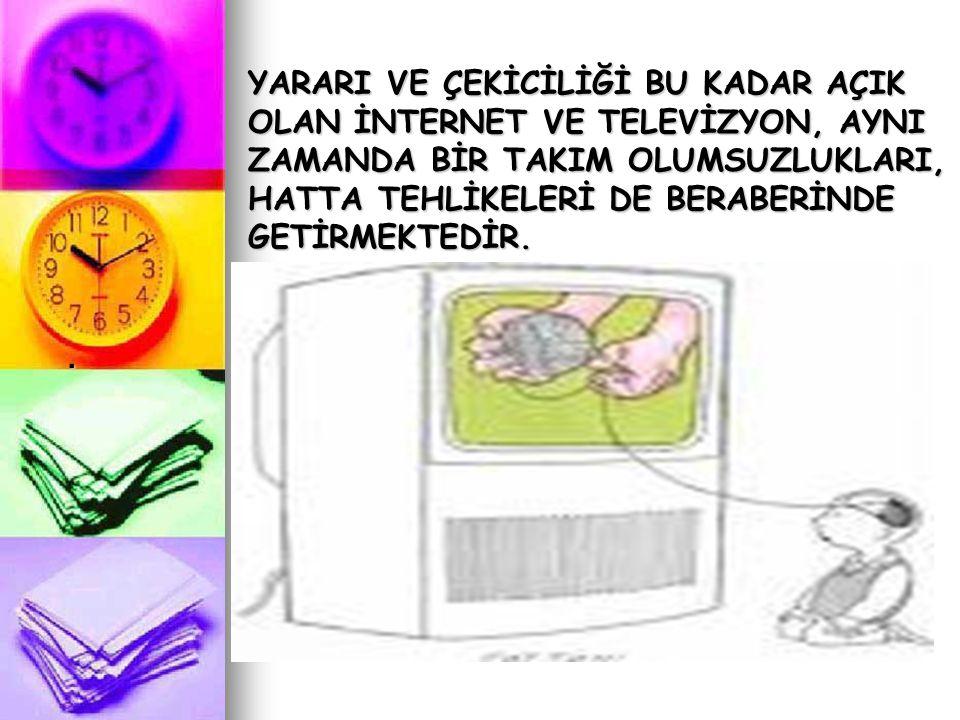Fazla televizyon izlemenin olası sonuçları Aile bireyleriyle olan ilişkiye etkisi.