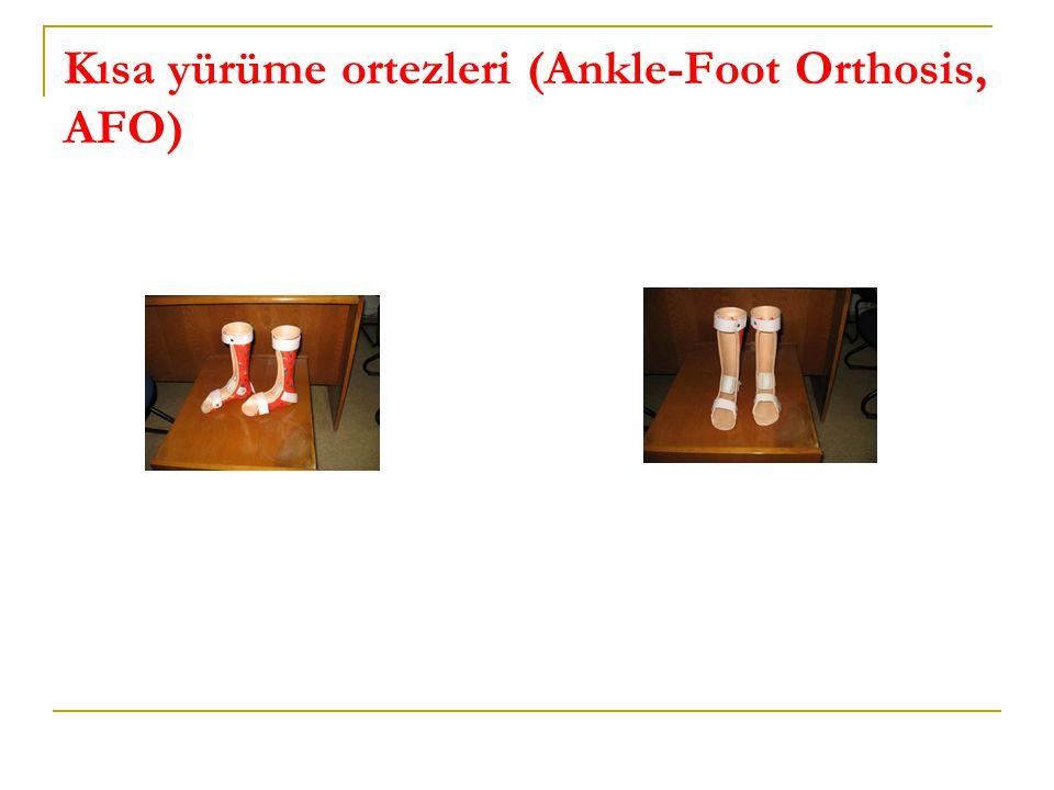 Kısa yürüme ortezleri (Ankle-Foot Orthosis, AFO)