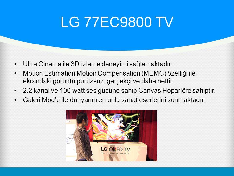 LG 77EC9800 TV Ultra Cinema ile 3D izleme deneyimi sağlamaktadır.