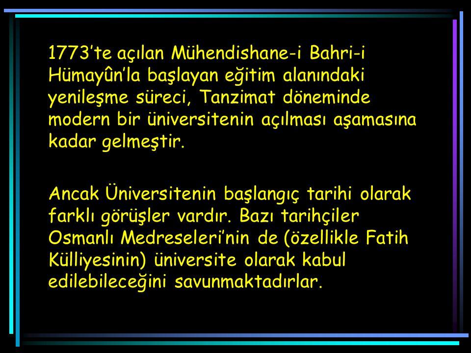 1865'te mevcut eğitim kurumlarının incelenmesi, yenilenmesi ve yeni okullar açılması için geçici bir komisyon oluşturuldu (Muvakkat Maarif Meclisi).