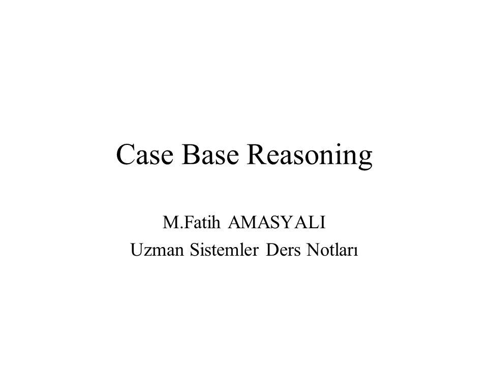 Case Base Reasoning M.Fatih AMASYALI Uzman Sistemler Ders Notları
