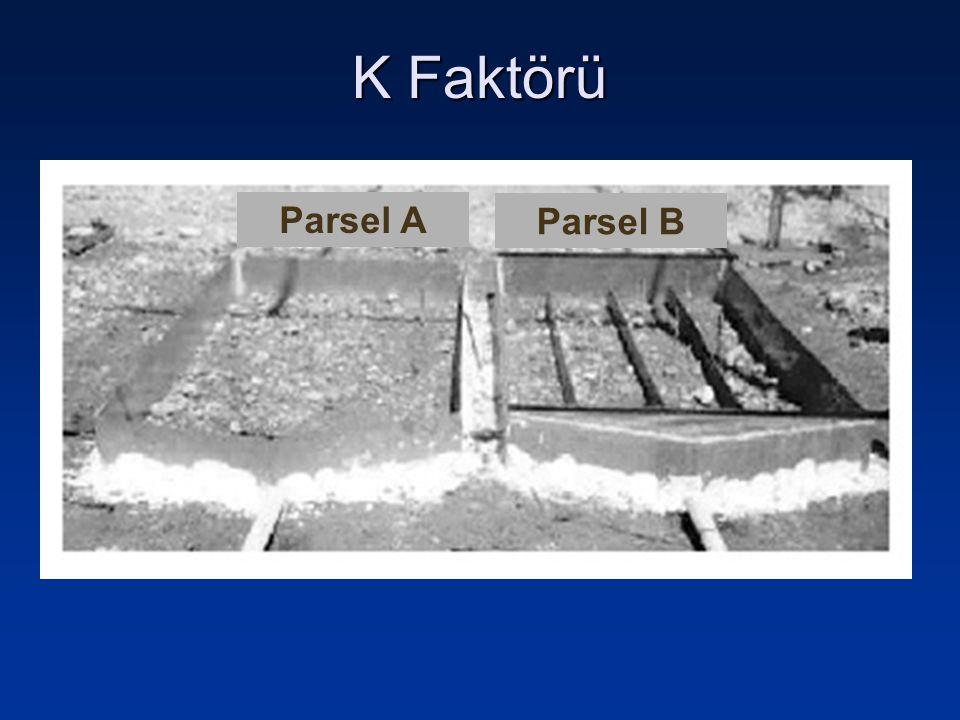 Parsel A Parsel B K Faktörü