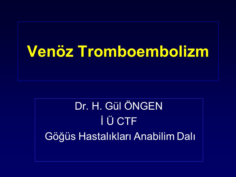 Oral antikoagülan Tedavi (OAT) Goldhaber SZ, Eur Respir J,2002 ; 19 :22s-27s Heparin tedavisinin 1.ya da 2.