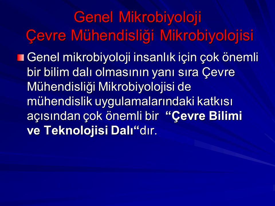 Genel Mikrobiyoloji Çevre Mühendisliği Mikrobiyolojisi Genel mikrobiyoloji insanlık için çok önemli bir bilim dalı olmasının yanı sıra Çevre Mühendisl