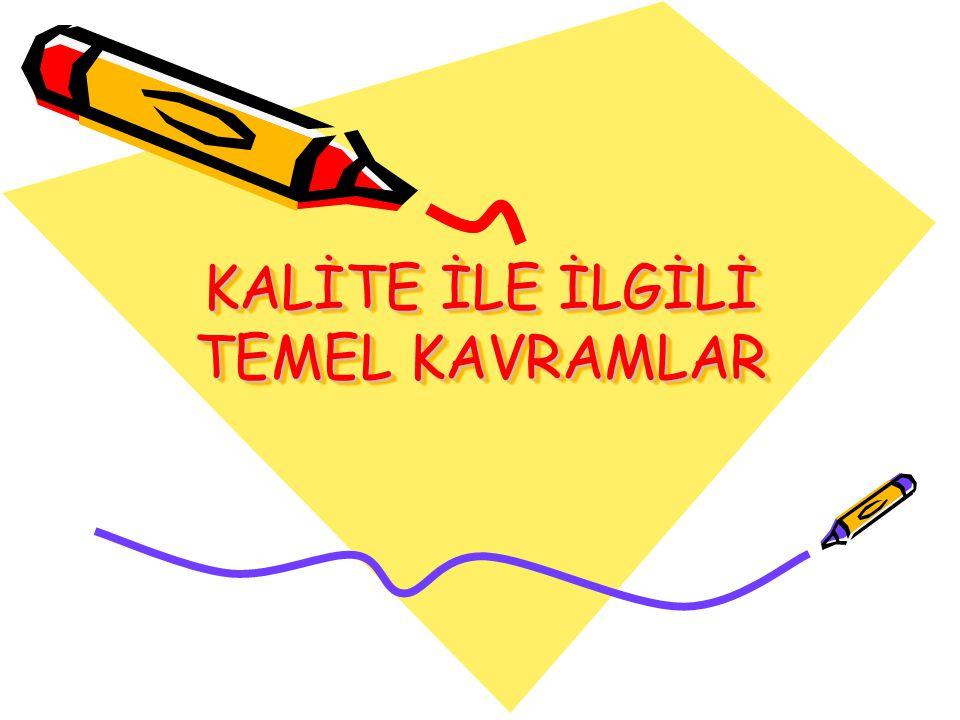 KALİTE İLE İLGİLİ TEMEL KAVRAMLAR