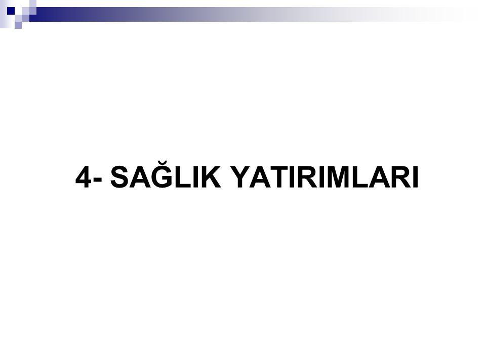 4- SAĞLIK YATIRIMLARI