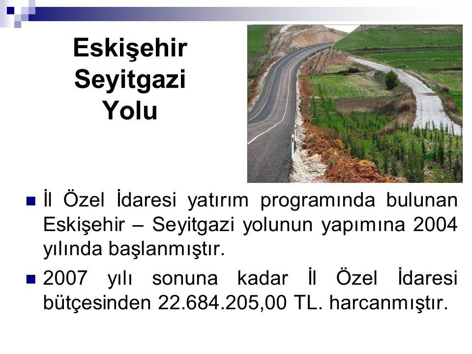 Eskişehir Seyitgazi Yolu İl Özel İdaresi yatırım programında bulunan Eskişehir – Seyitgazi yolunun yapımına 2004 yılında başlanmıştır. 2007 yılı sonun