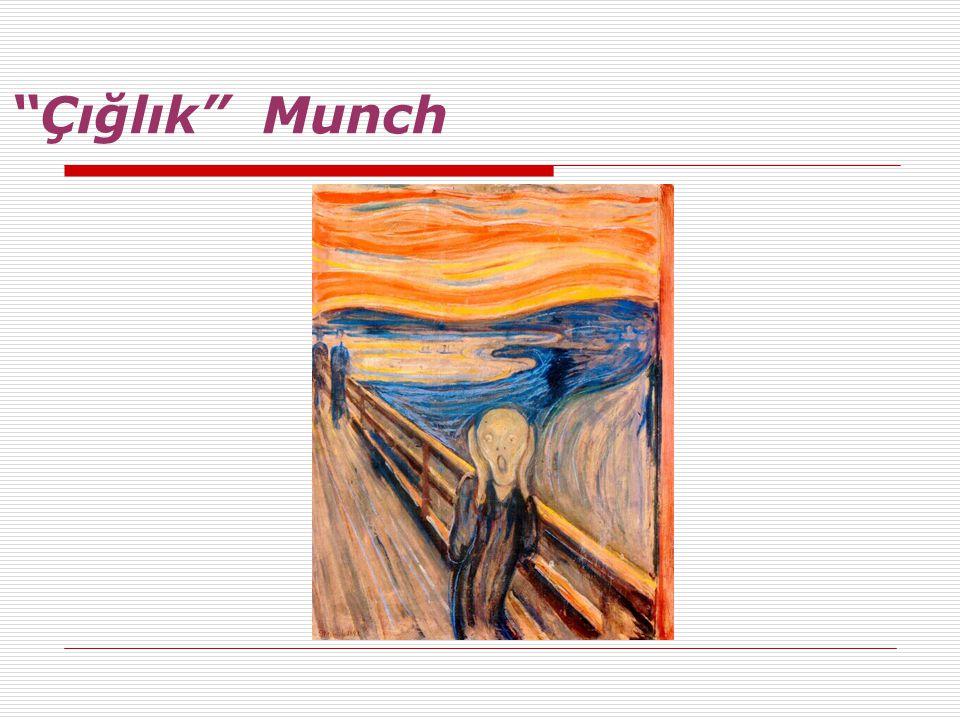 """""""Çığlık"""" Munch"""