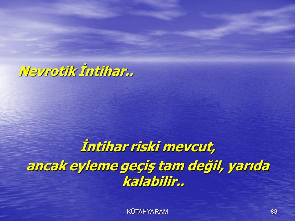 KÜTAHYA RAM83 Nevrotik İntihar..