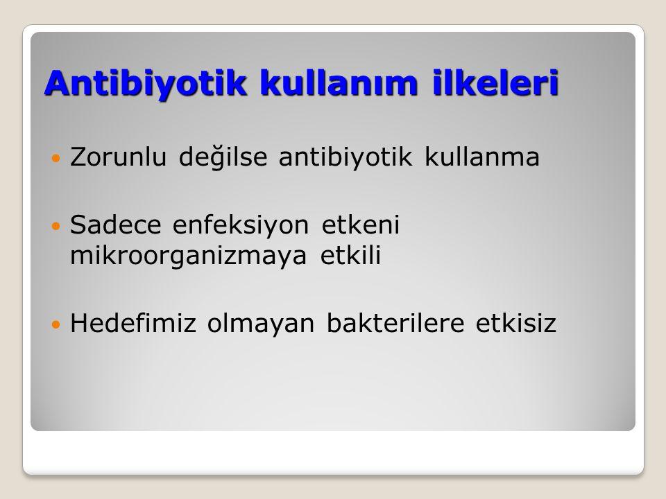 Antibiyotik kullanma nedenleri Profilaksi Tedavi ◦Ampirik ◦Etkene yönelik