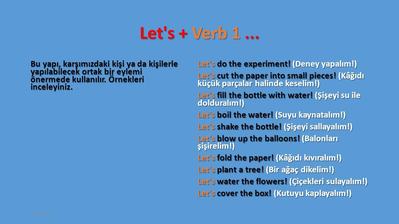 Let s + Verb 1...