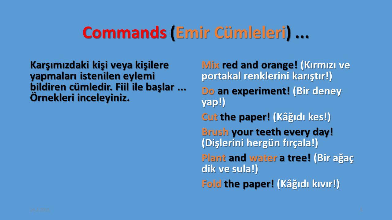 Commands (Emir Cümleleri)...