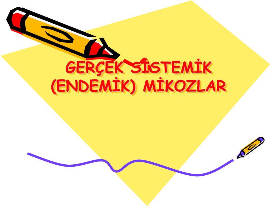 GERÇEK SİSTEMİK (ENDEMİK) MİKOZLAR