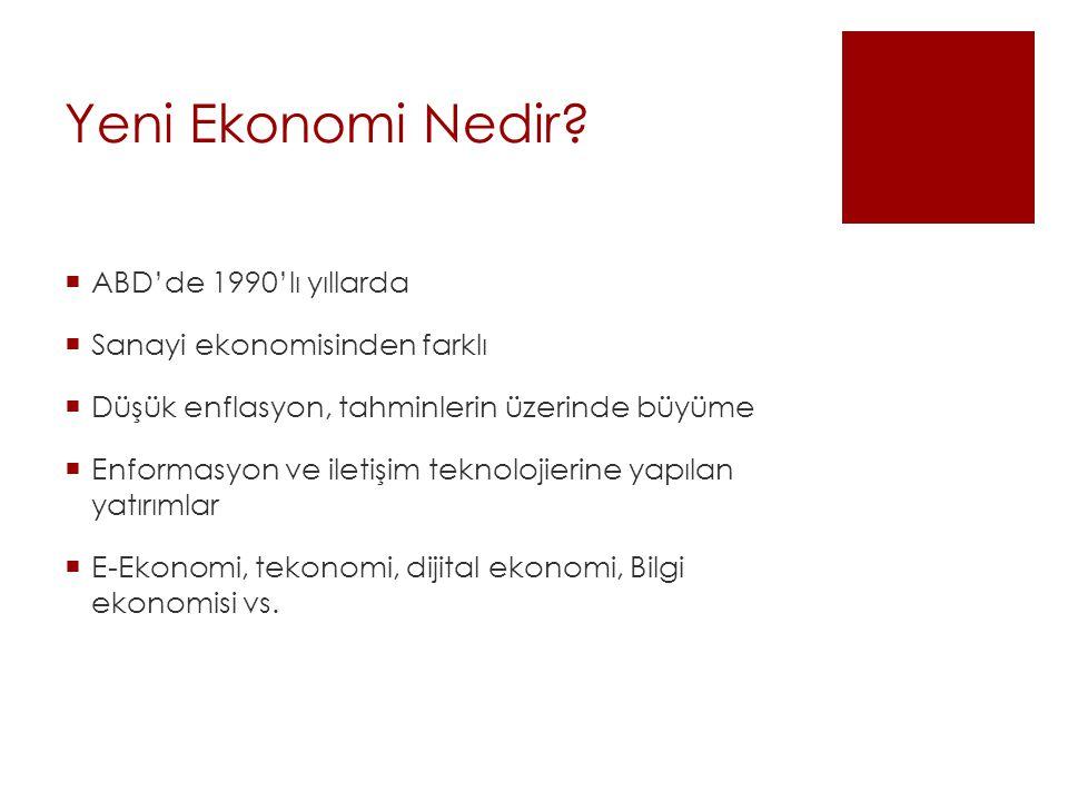Yeni Ekonomi Nedir.