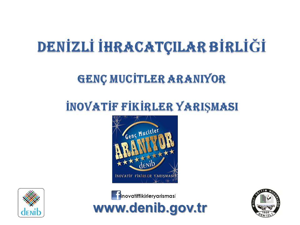 Yarışma Konusu ve Amacı Türkiye'nin uluslararası rekabet gücünü arttırmak için bilimsel bilgiyi ticari değere dönüştürmek, Gençlerin kariyer hedefleri oluşturmalarına ve böylece bilinçli ve nitelikli iş gücünün yetiştirilmesine ve inovatif uygulamalarla sürdürülebilir kalkınmaya katkı sağlamak, Yenilikçi, özgün fikir ve projeler ile farklı yaş gruplarının yaratıcılıklarını ön plana çıkarmak, Bilimi sevdirmek ve yeni buluşlar yapmaya yönlendirmek, Araştırma yapmalarını sağlayarak bilgi ve becerilerini geliştirmek, Keşfedilmemiş ve sadece fikir aşamasında kalmış projeleri hayat geçirmek, Denizli ve Türkiye'nin inovasyon yolculuğunda çocukların ve gençlerin katıksız fikirlerinden faydalanmak ve onları bu yolda desteklemek amacıyla İnovatif Fikirler Yarışması düzenlenmektedir.