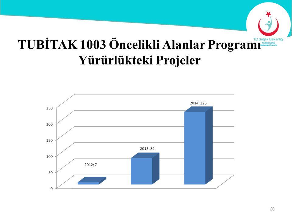 TUBİTAK 1003 Öncelikli Alanlar Programı Yürürlükteki Projeler 66