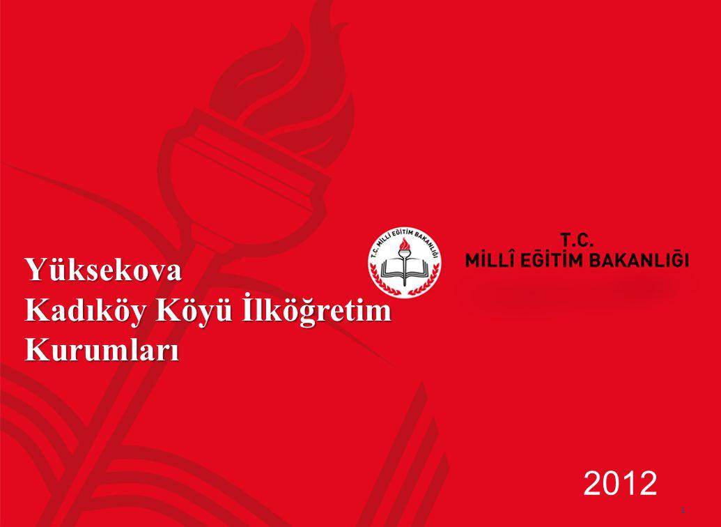 1 Yüksekova Kadıköy Köyü İlköğretim Kurumları 2012