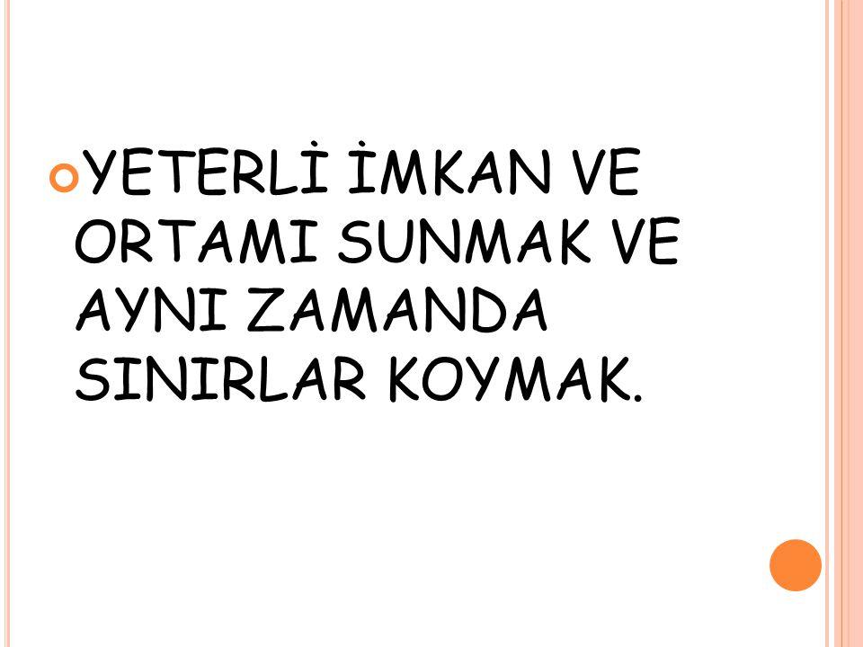 ÇOCUĞUNUZLA ' KİM GÜÇLÜ ' ÇEKİŞMESİNE GİRMEYİN.