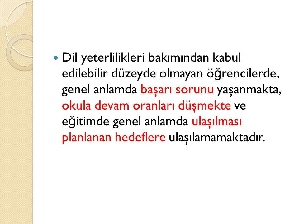 V.DİL YETERLİKLERİ 1.