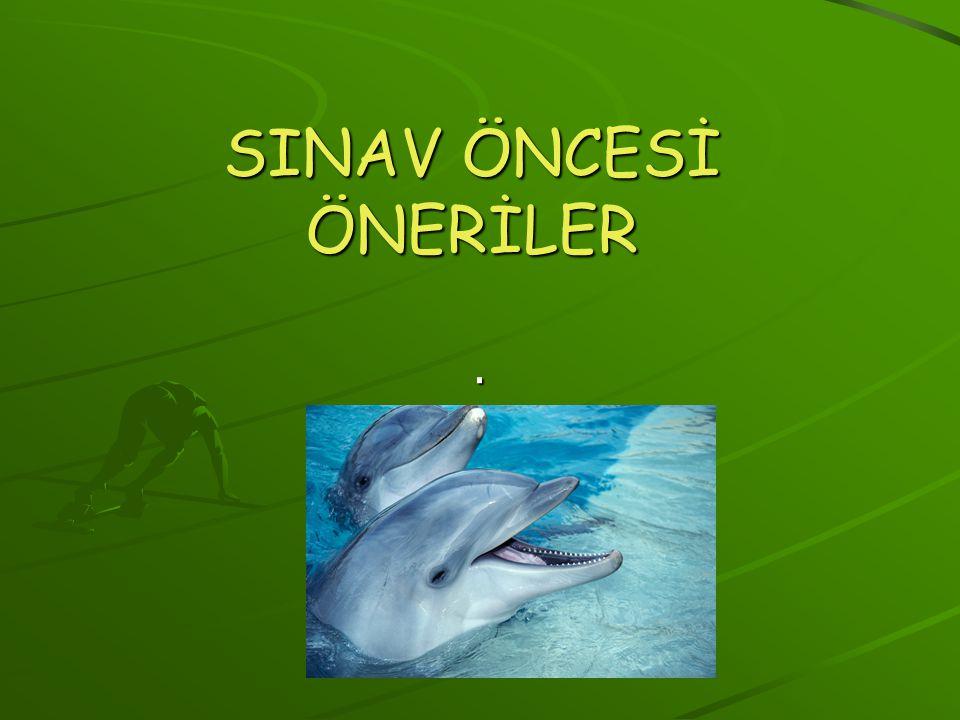 SINAV ÖNCESİ ÖNERİLER.