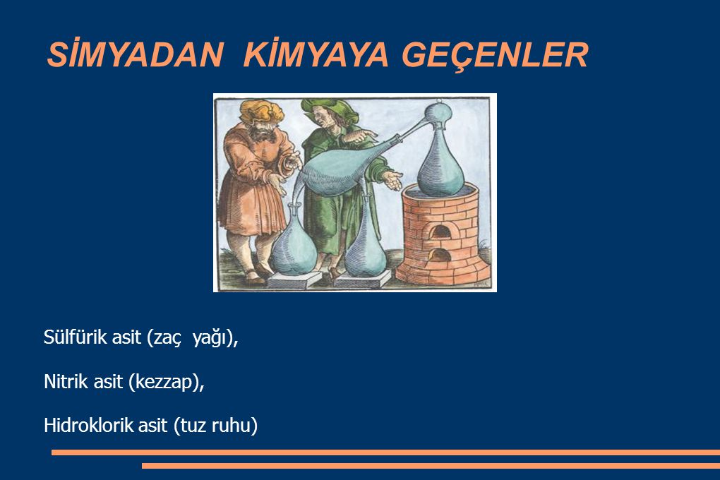 Bilimsel çalışmaların başlangıcı Elementlerin saf olarak elde edilmesi Elementlerin saf olarak elde edilmesi Elementlerin birbirleriyle etkileşimleri üzerine çalışmalar Elementlerin birbirleriyle etkileşimleri üzerine çalışmalar Hollandalı kimyacı Van Helmont (1577-1644) deneylerinde teraziyi kullanarak kimyasal çalışmalara nicel özellik kazandırmıştır.