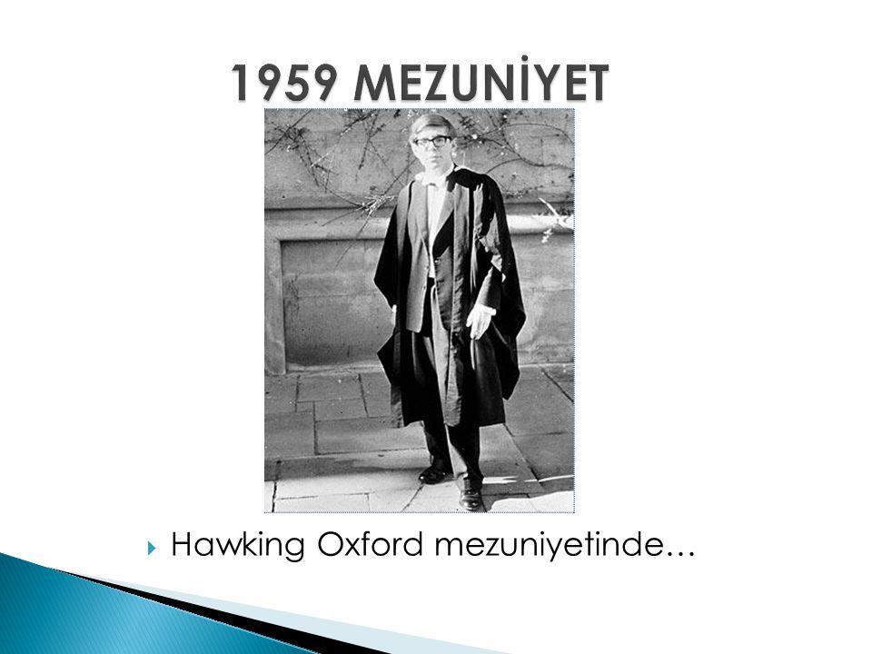  Hawking Oxford mezuniyetinde…