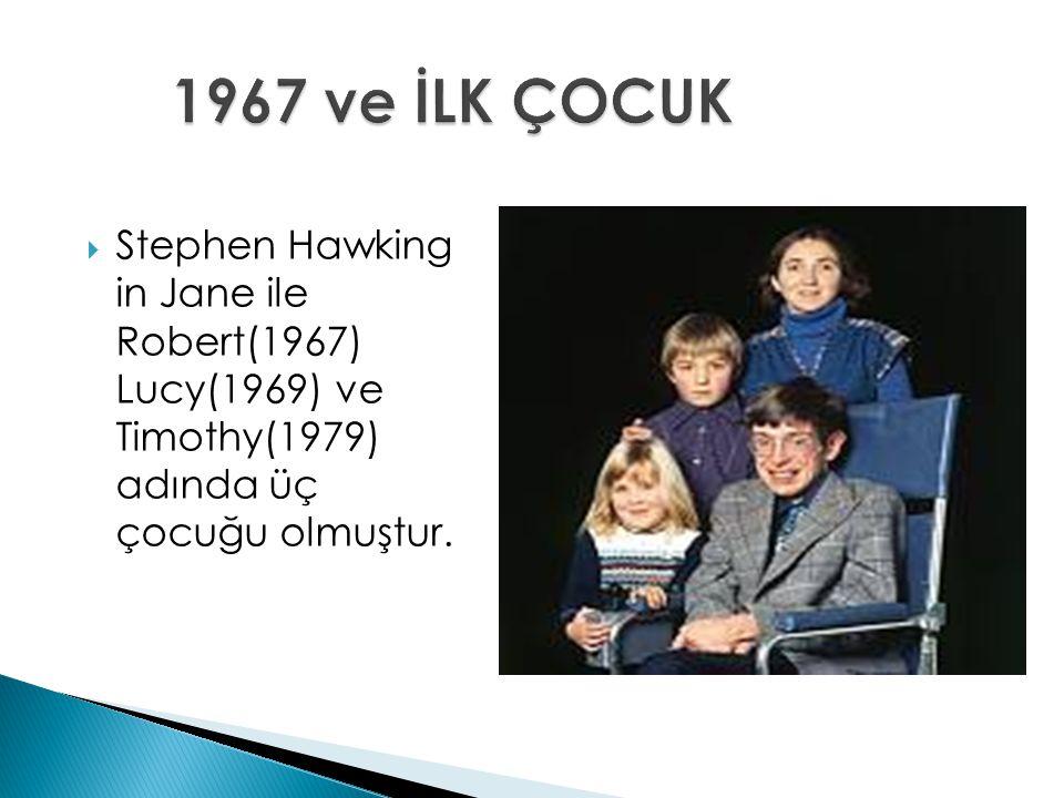  Stephen Hawking in Jane ile Robert(1967) Lucy(1969) ve Timothy(1979) adında üç çocuğu olmuştur.