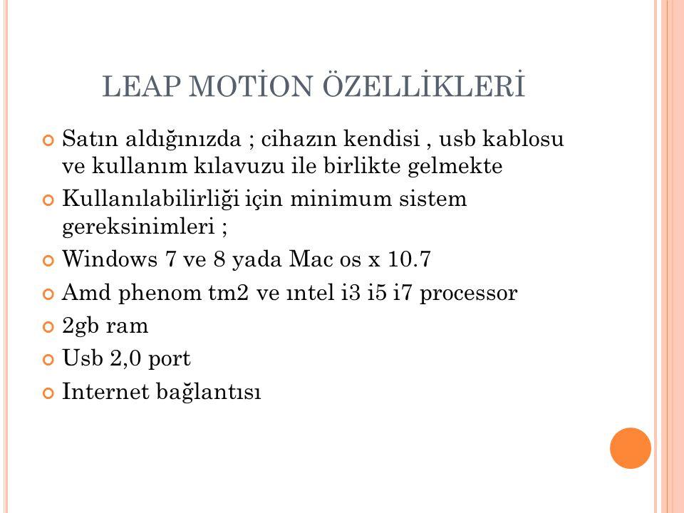 L EAP MOTION ILE NELER YAPLABILIR .