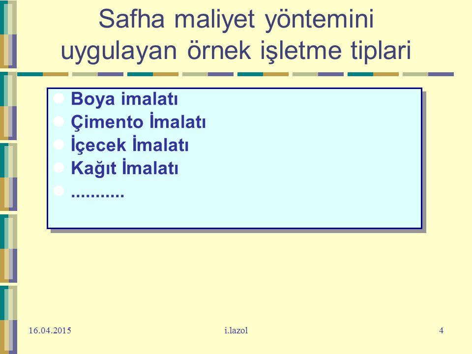16.04.2015i.lazol25 Örnek 2 Veriler: Miktarlar