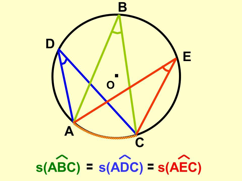 . O A B C bir çevre açıdır. BAC