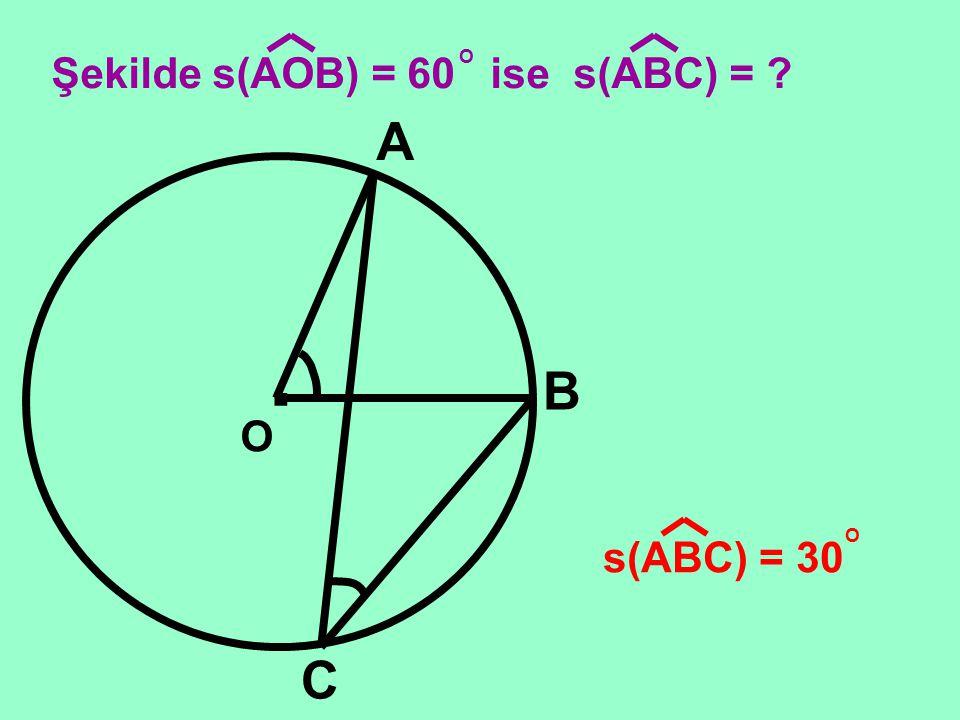 . O C A B Çevre açının ölçüsü aynı yayı gören merkez açının ölçüsünün yarısına eşittir. ÇEVRE AÇI MERKEZ AÇI