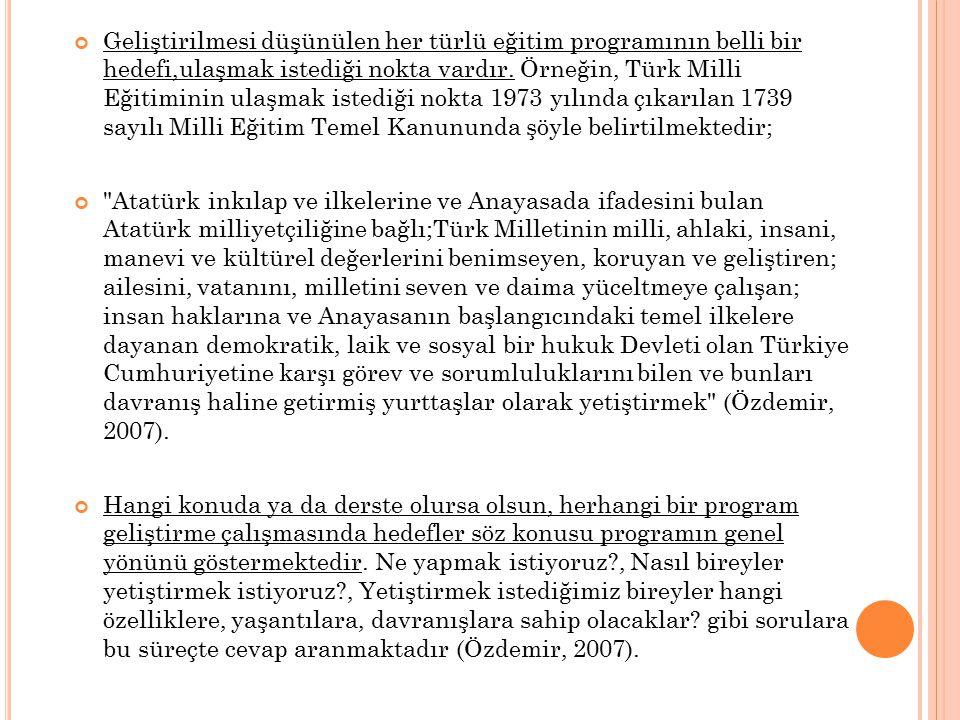 HEDEF YAZMADA DİKKAT EDİLECEK NOKTALAR 1.