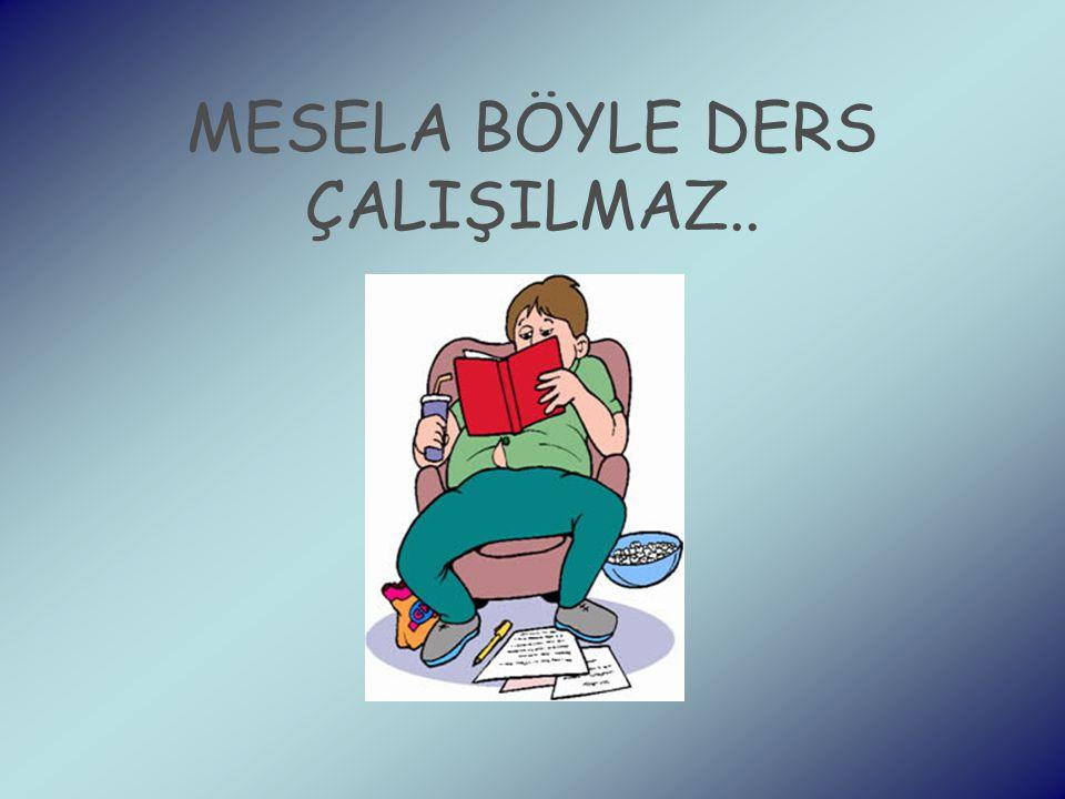 MESELA BÖYLE DERS ÇALIŞILMAZ..