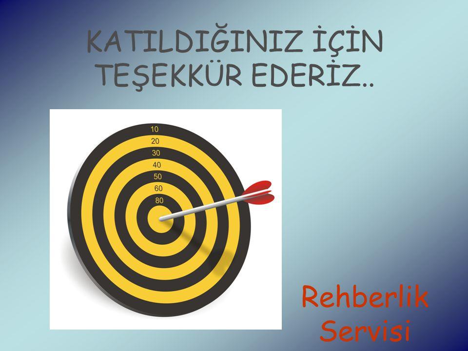 KATILDIĞINIZ İÇİN TEŞEKKÜR EDERİZ.. Rehberlik Servisi