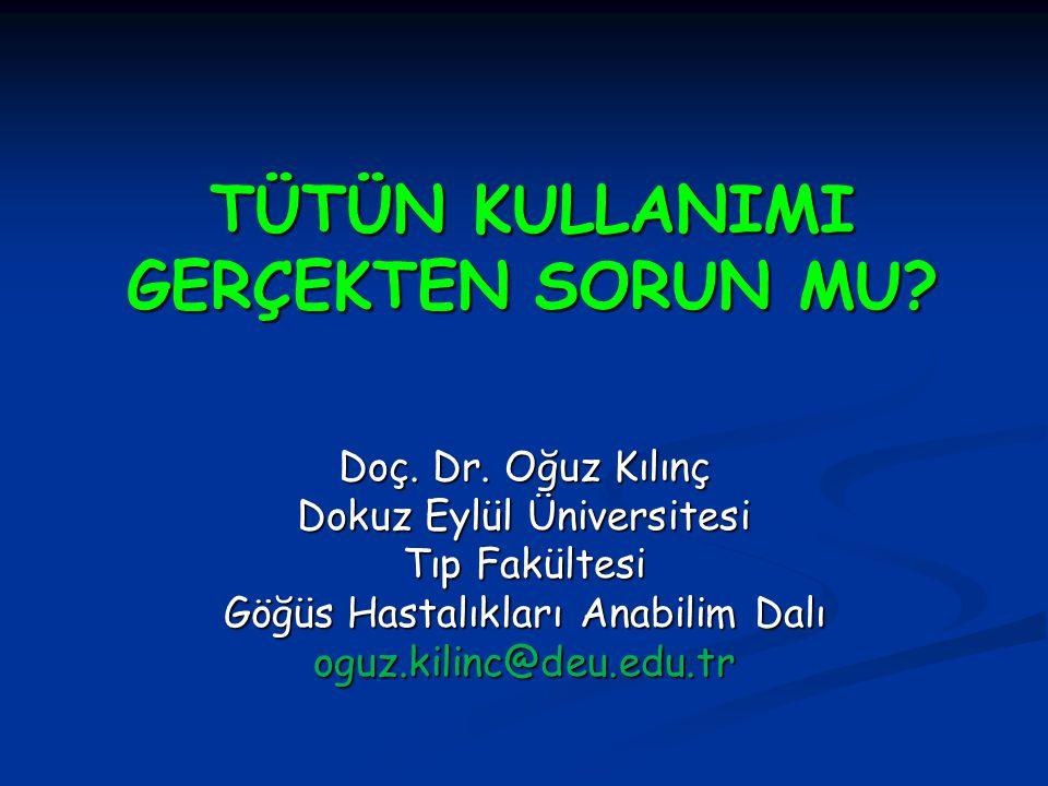 Sunum planı Tütün kullanımının Dünyada ve Türkiye'de sıklığı nedir.