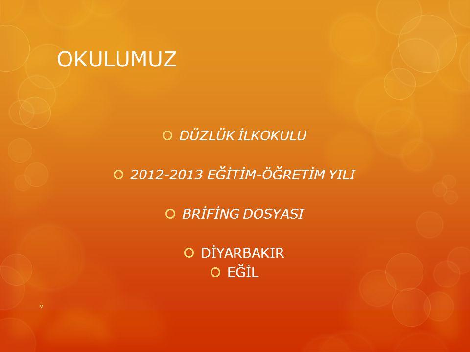 OKULUMUZ  DÜZLÜK İLKOKULU  2012-2013 EĞİTİM-ÖĞRETİM YILI  BRİFİNG DOSYASI  DİYARBAKIR  EĞİL 
