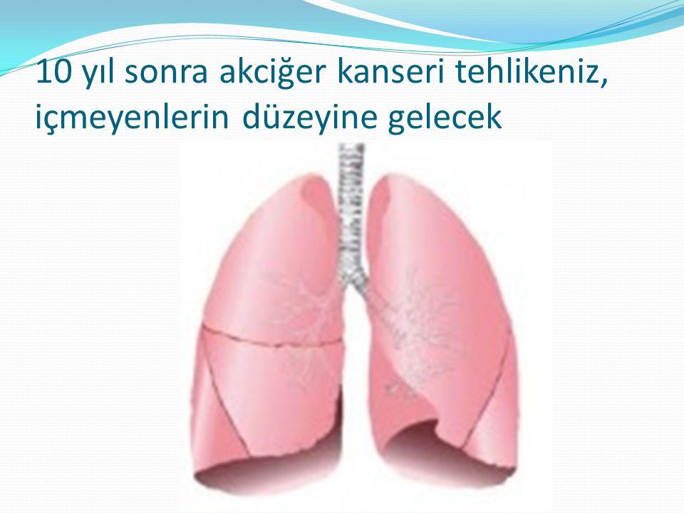 10 yıl sonra akciğer kanseri tehlikeniz, içmeyenlerin düzeyine gelecek
