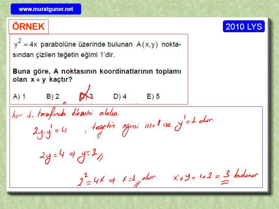 2010 LYS ÖRNEK www.muratguner.net