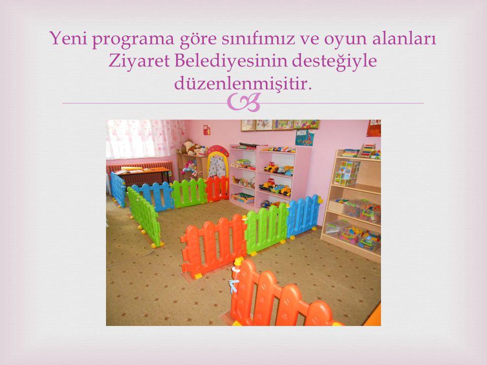  Yeni programa göre sınıfımız ve oyun alanları Ziyaret Belediyesinin desteğiyle düzenlenmişitir.