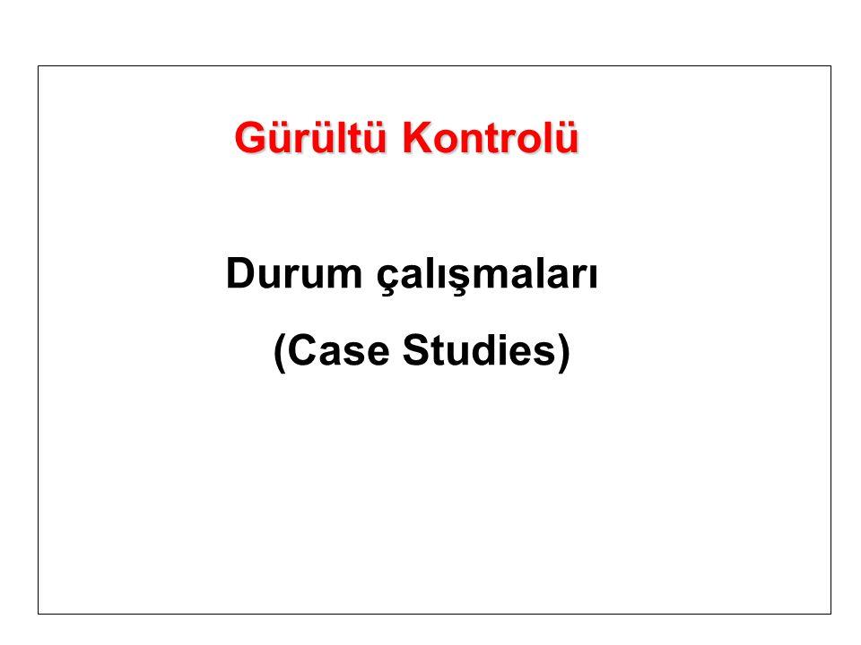 Gürültü Kontrolü Durum çalışmaları (Case Studies)