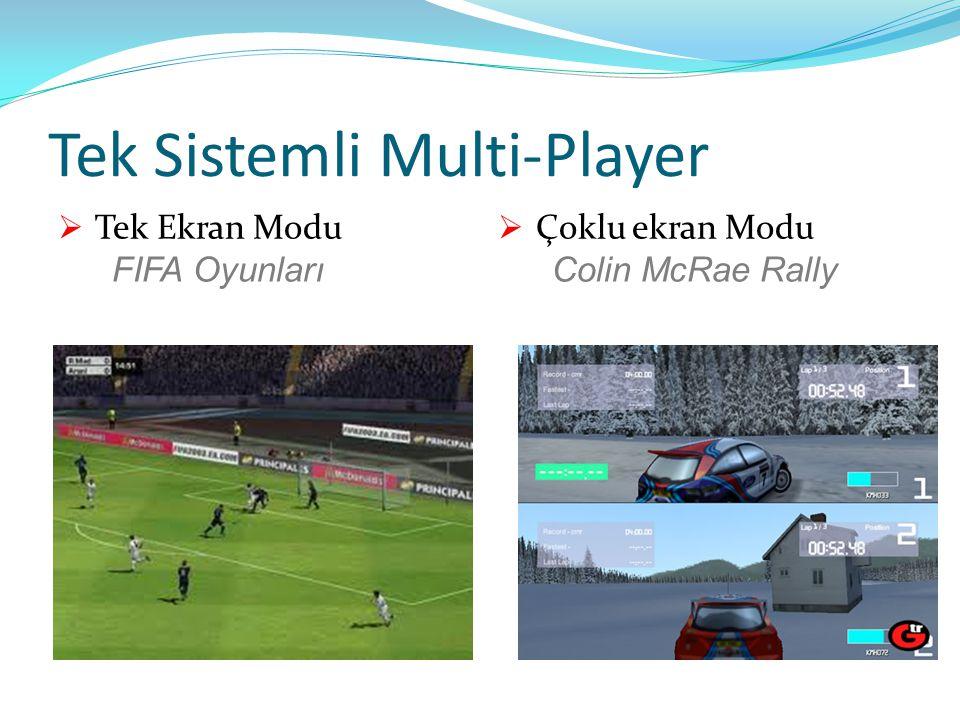 Tek Sistemli Multi-Player  Tek Ekran Modu FIFA Oyunları  Çoklu ekran Modu Colin McRae Rally