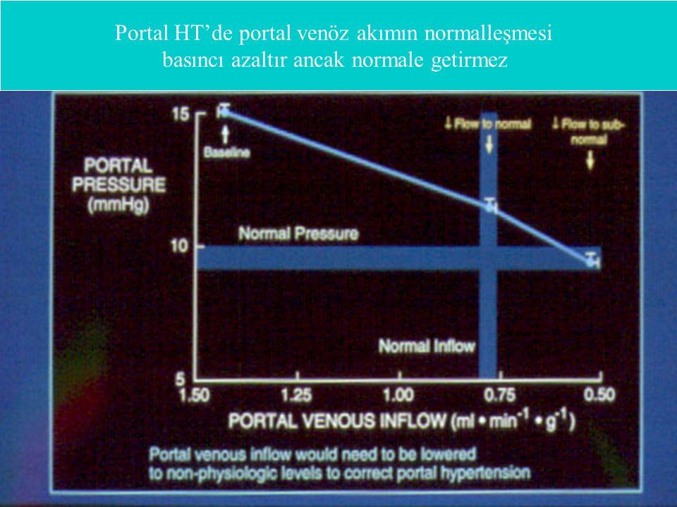 Portal HT'de portal venöz akımın normalleşmesi basıncı azaltır ancak normale getirmez